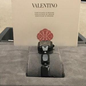 Authentic Valentino black Mini Gemme watch